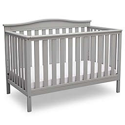 Delta Children Independence 4-in-1 Convertible Crib in Grey