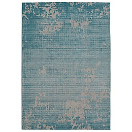 Balta Home Lakewood Indoor/Outdoor Area Rug in Teal/Cream