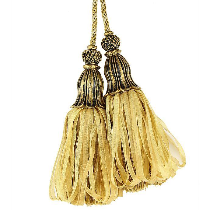 Alternate image 1 for Spa Tassel Tie Back in Light Gold/Dark Gold