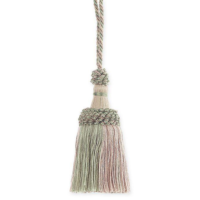Alternate image 1 for Elara Key Tassel Tie Back in Green/Beige