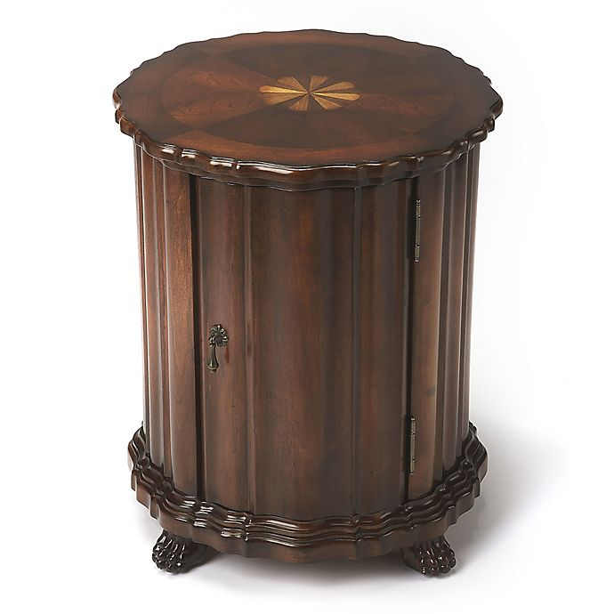 Alternate image 1 for Butler Maxfield Vintage Drum Table in Dark Brown