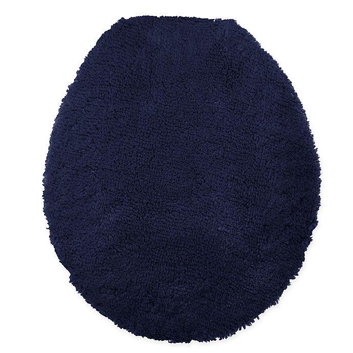 Alternate image 1 for Wamsutta® Ultra Fine Reversible Toilet Lid Cover in Navy
