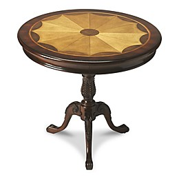 Butler Specialty Company Carissa Round Pedestal Table in Plantation Cherry