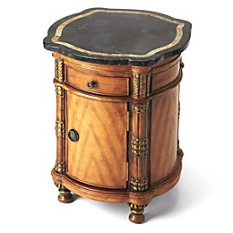 Butler Specialty Company Montero Fossil Stone Drum Accent Table