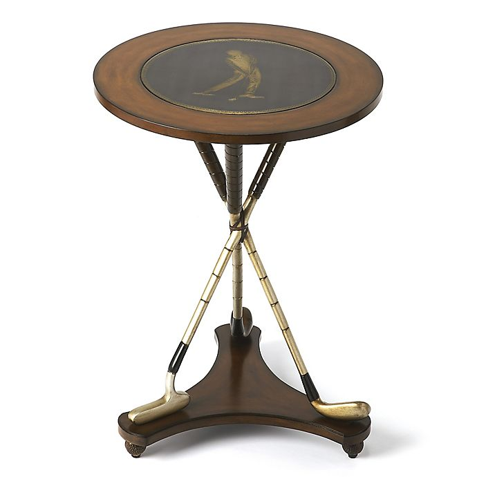 Alternate image 1 for Butler Specialty Company Nineteenth Hole Round Golf Accent Table