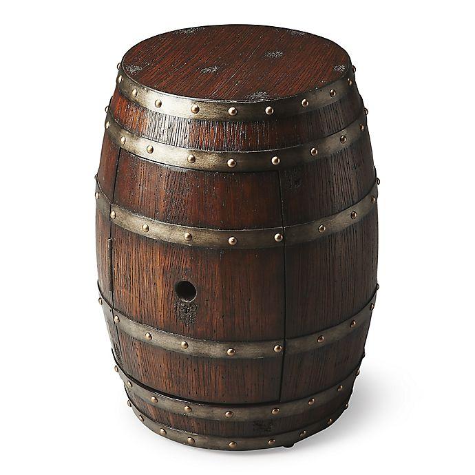 Alternate image 1 for Butler Calumet Rustic Barrel Table in Dark Brown