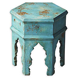 Butler Tangiers Solid Wood Bunching Table in Blue