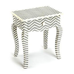 Butler Signoret Bone Inlay End Table in Grey