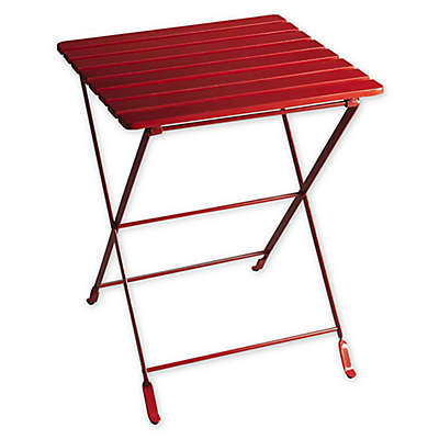 Butler Bailey Folding Side Table in Red