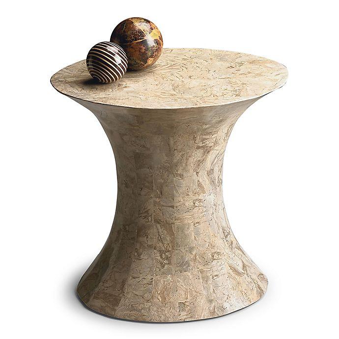 Alternate image 1 for Butler Jaxon Oval Fossil Stone Side Table in Beige