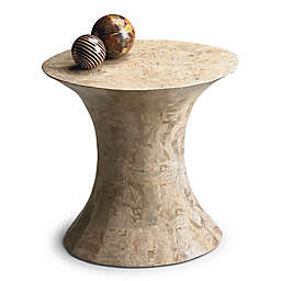 Butler Jaxon Oval Fossil Stone Side Table in Beige