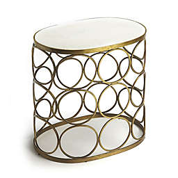 Butler Talulah Oval Marble Accent Table in Gold