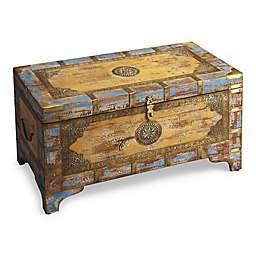 Nador Wood Brass Inlay Storage Trunk