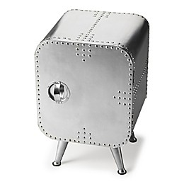 Butler Specialty Company Midway Aviator Chairside Chest in Silver