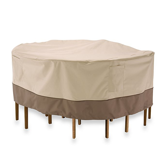 Alternate image 1 for Classic Accessories® Veranda Round Table and Chair Set Cover