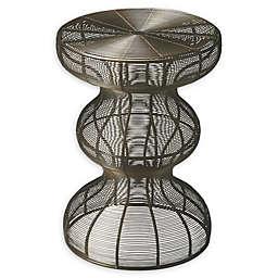 Butler Angeline Round Metal Accent Table in Bronze