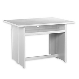 Southern Enterprises Kempsey Console to Dining Table in White