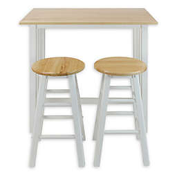 Casual Home 3-Piece Pub Style Breakfast Cart Set in White