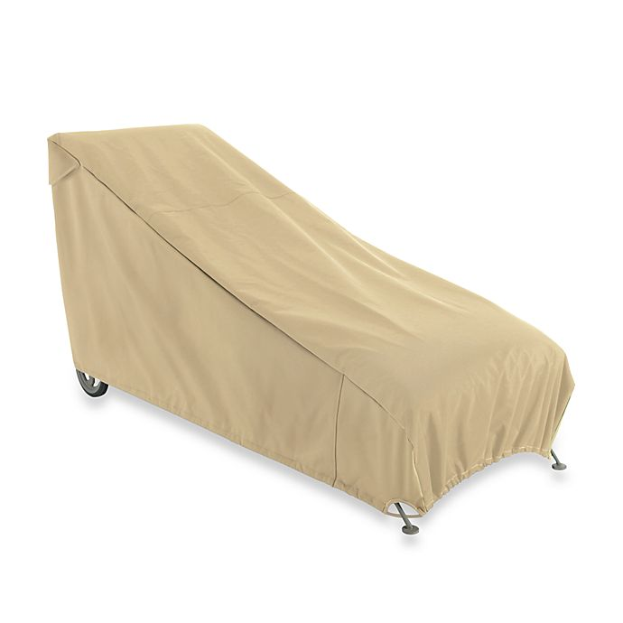 Alternate image 1 for Classic Accessories Terrazzo Chaise Lounge Cover in Sand