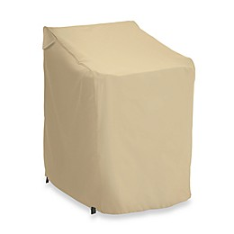 Classic Accessories Terrazzo Stackable Chair Cover in Sand