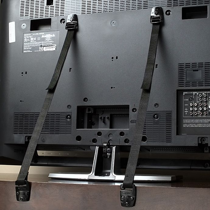 Alternate image 1 for KidCo® Anti-Tip Flat Screen TV Strap (Set of 2)