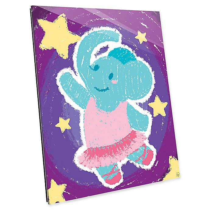 Alternate image 1 for Astra Art Crayon Elephant Dancer Acrylic Wall Art