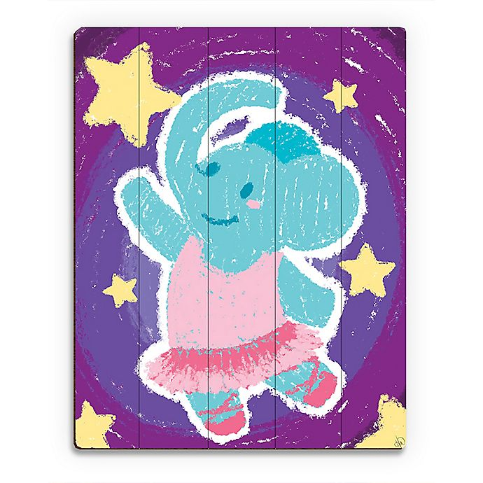 Alternate image 1 for Astra Art Crayon Elephant Dancer Wood Wall Art