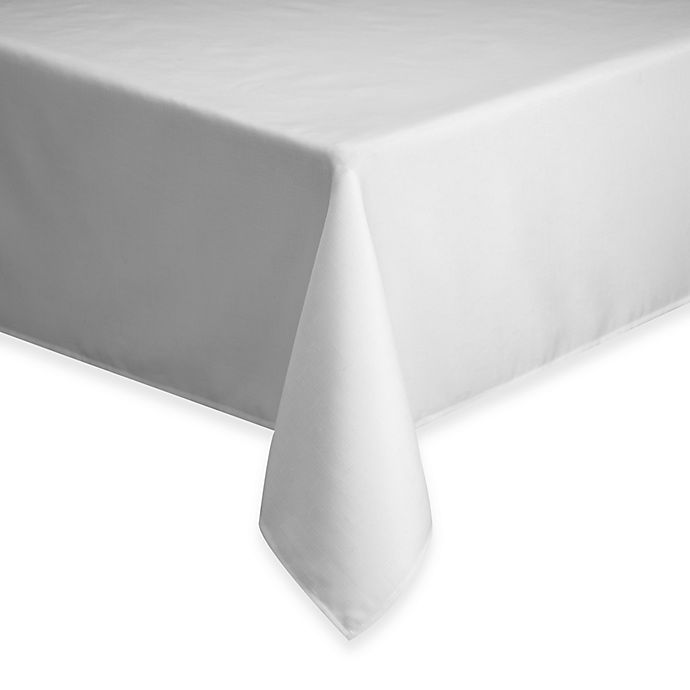Alternate image 1 for Basics 70-Inch Round Tablecloth in White