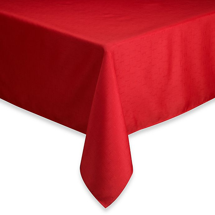 Alternate image 1 for Basics 60-Inch x 120-Inch Oblong Tablecloth in Ruby