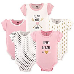 Hudson Baby® 5-Pack Heart Short Sleeve Bodysuits