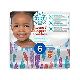 Honest Diapers in Painted Feathers Pattern