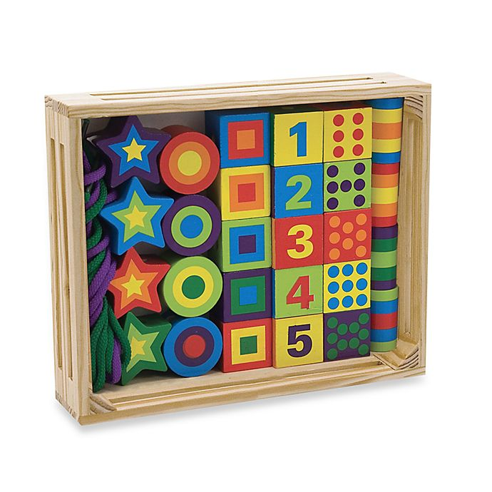 Alternate image 1 for Melissa & Doug® Lacing Beads In A Box