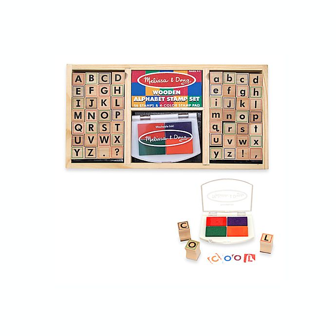 Alternate image 1 for Melissa & Doug® Alphabet Stamp Set