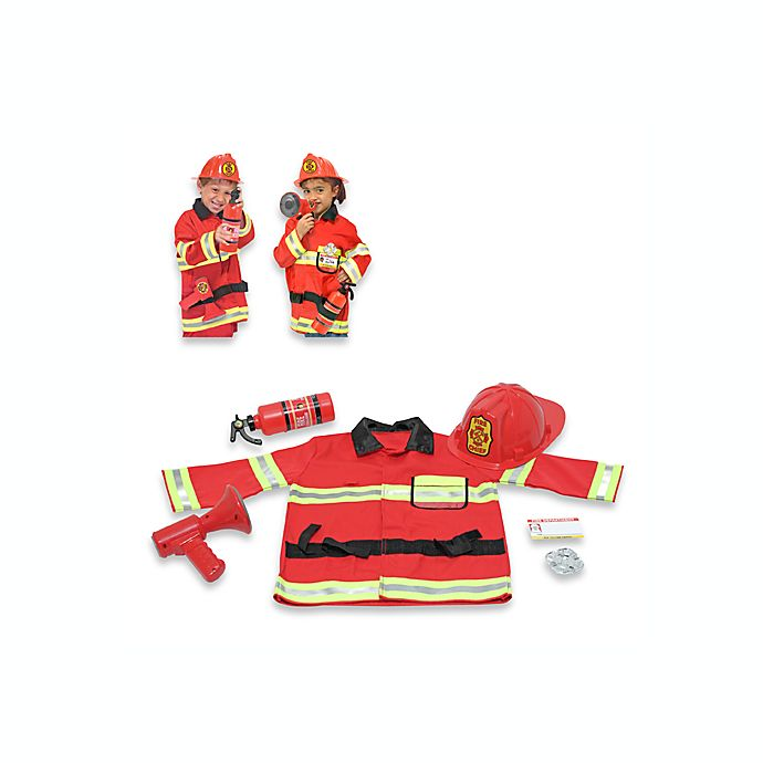 Alternate image 1 for Melissa & Doug® Firefighter Role Play Costume Set