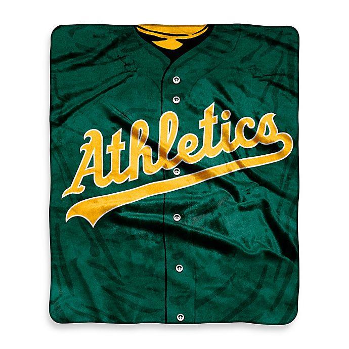 Alternate image 1 for MLB Oakland Athletics Jersey Raschel Throw Blanket