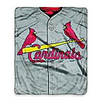 MLB St. Louis Cardinals Jersey Raschel Throw Blanket