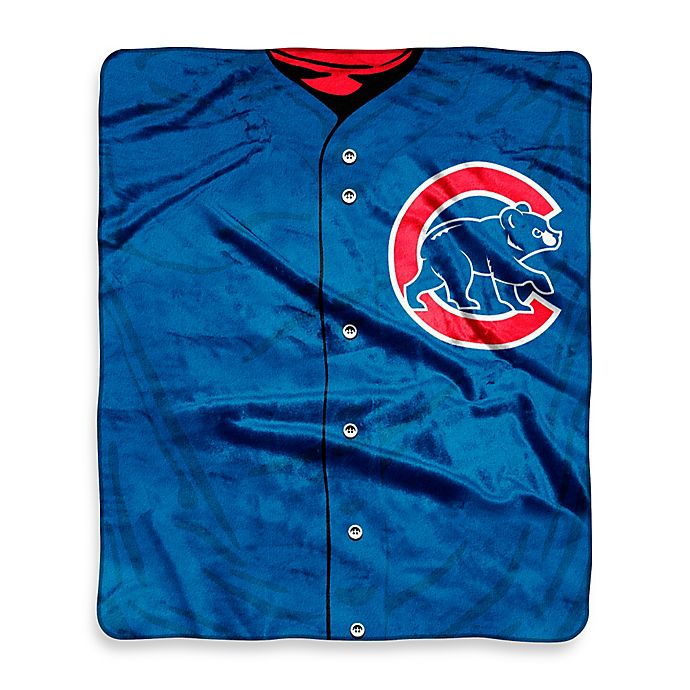 new arrival ca38d f2051 MLB Chicago Cubs Jersey Raschel Throw Blanket | Bed Bath ...