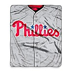 MLB Philadelphia Phillies Jersey Raschel Throw Blanket