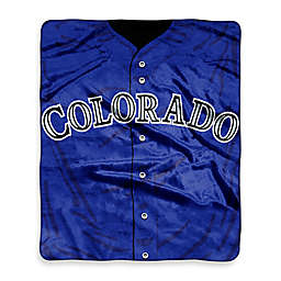 MLB Colorado Rockies Jersey Raschel Throw Blanket