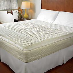 5-Zone Memory Foam Mattress Topper in White