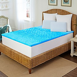 Arctic Sleep™ by Pure Rest™ 1.5-Inch Marbleized Gel 5-Zone Mattress Topper