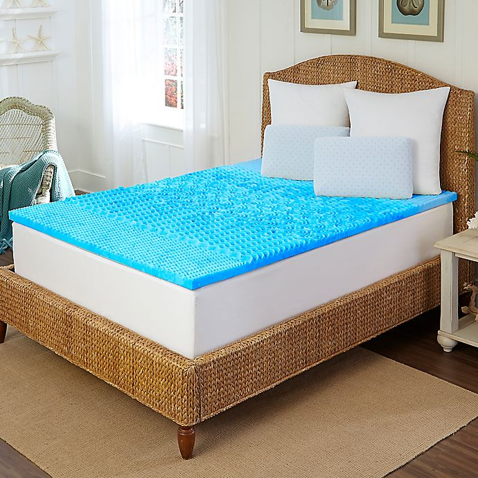 Alternate image 1 for Arctic Sleep™ by Pure Rest™ 1.5-Inch Marbleized Gel 5-Zone King Mattress Topper
