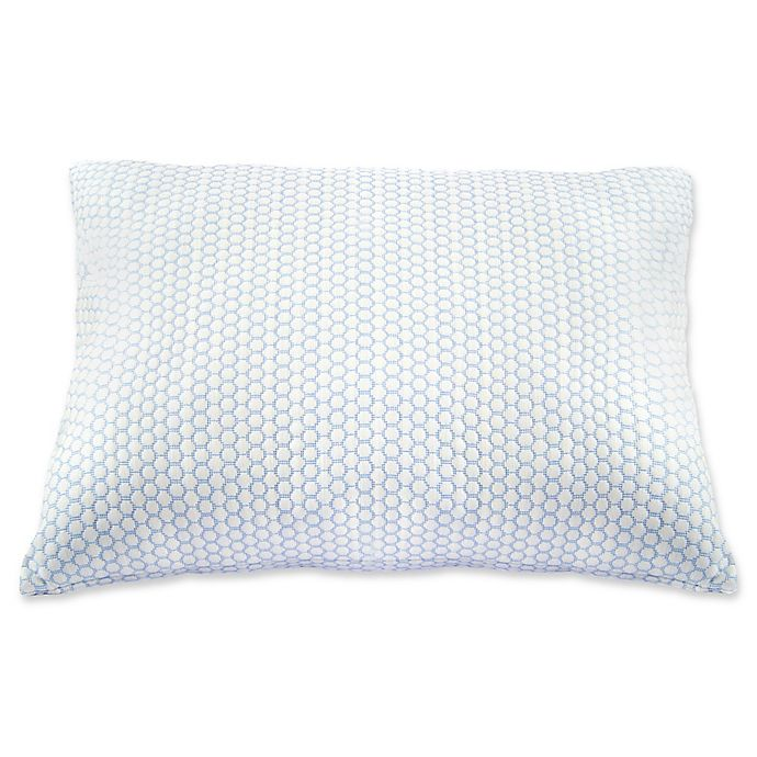 Alternate image 1 for Climate Cool Pillow in White/Blue