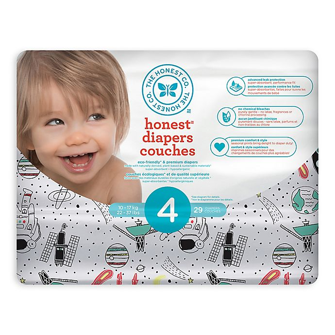 Alternate image 1 for Honest Diapers in Space Traveling Pattern