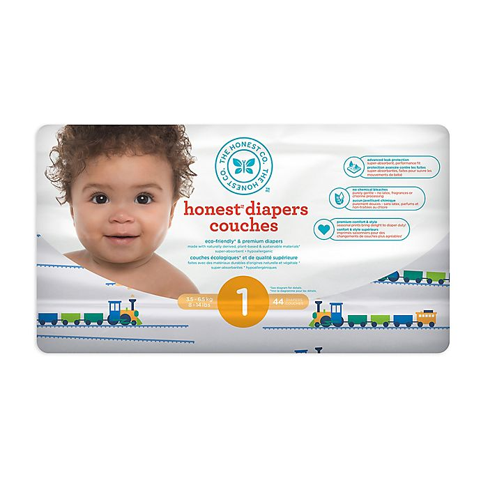 Alternate image 1 for Honest Diapers in Trains Pattern