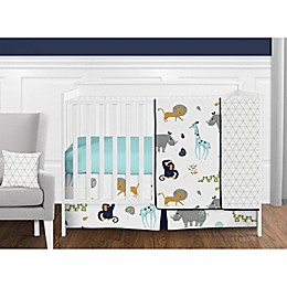 Sweet Jojo Designs Mod Jungle Crib Bedding Collection