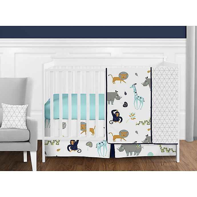 Alternate image 1 for Sweet Jojo Designs Mod Jungle Crib Bedding Collection