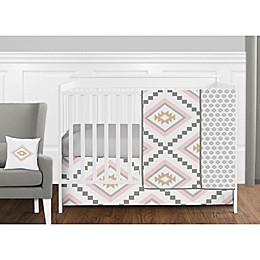 Sweet Jojo Designs Aztec Crib Bedding Collection in Pink/Gold