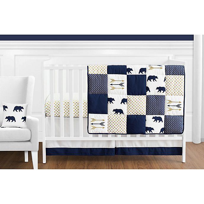 Alternate image 1 for Sweet Jojo Designs Big Bear 11-Piece Crib Bedding Set in Blue/Gold