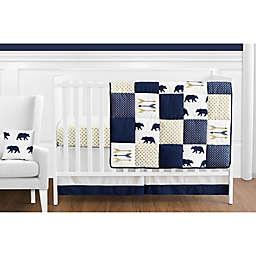 Sweet Jojo Designs Big Bear 11-Piece Crib Bedding Set in Blue/Gold